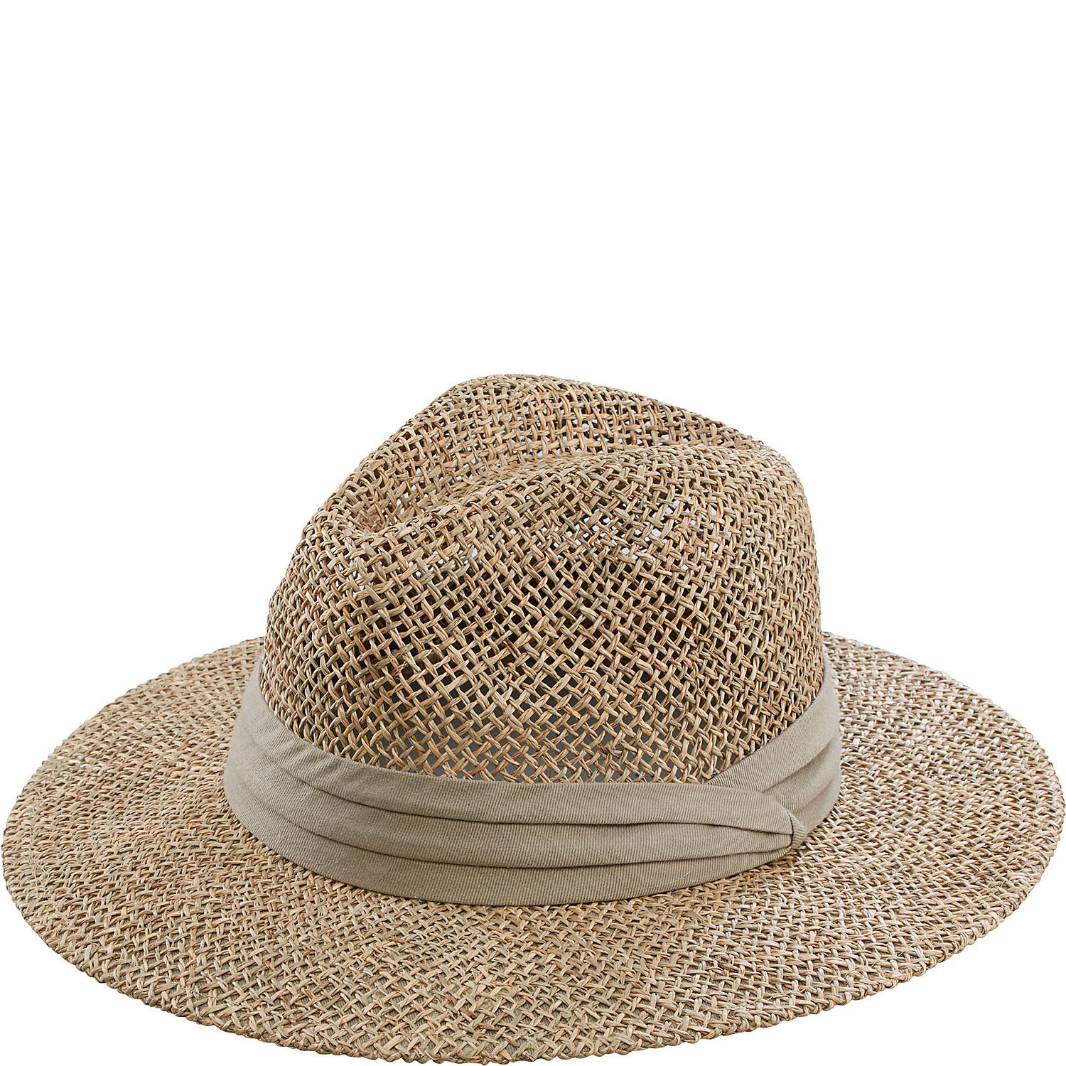 5330ea2793ecf San Diego Hat Seagrass Panama Fedora with Cloth Band - eBags.com ...