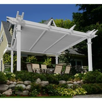Brandenburg Louvered Vinyl Pergola In 2020 Vinyl Pergola Louvered Pergola Pergola