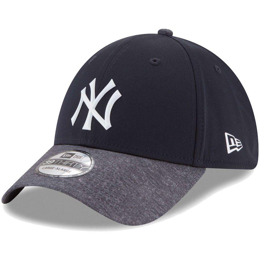 f02971e0169 Men s New York Yankees New Era Navy Heathered Gray Prolight Batting Practice  39THIRTY Flex
