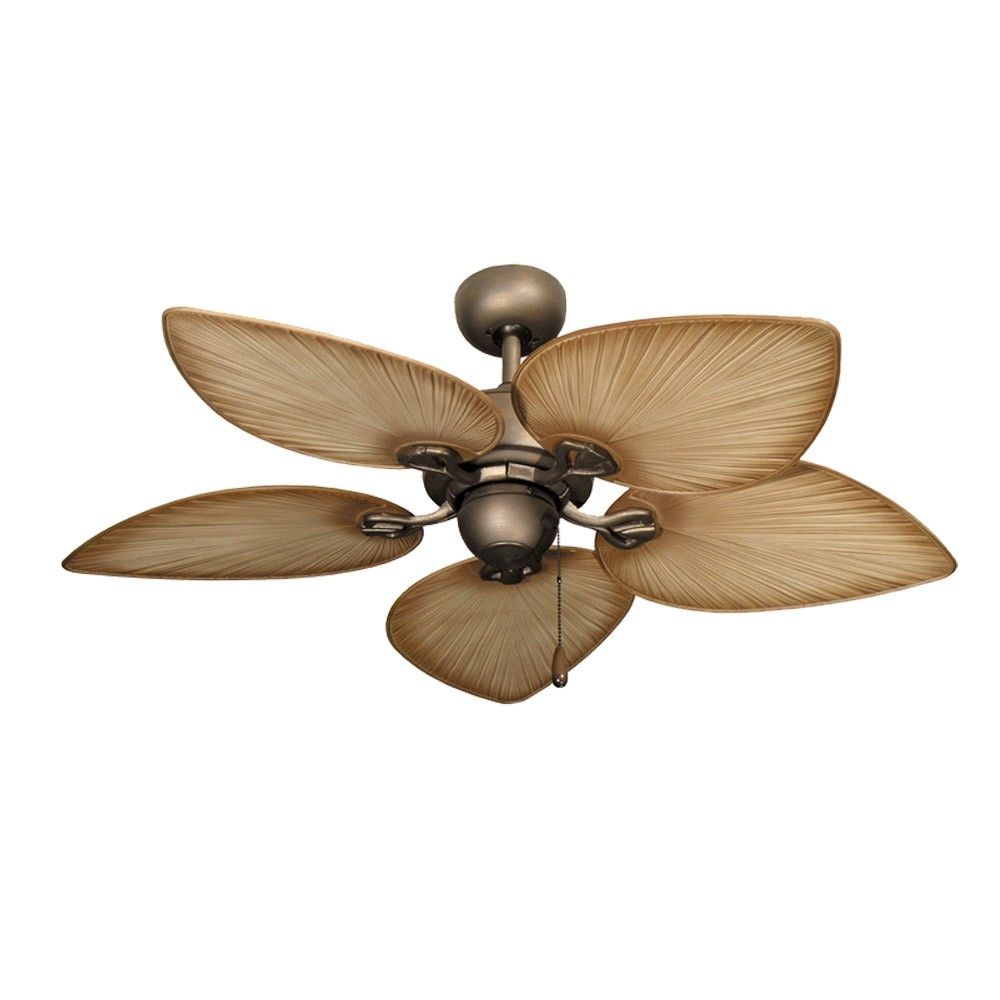 Tropical Ceiling Fan With Light And Remote