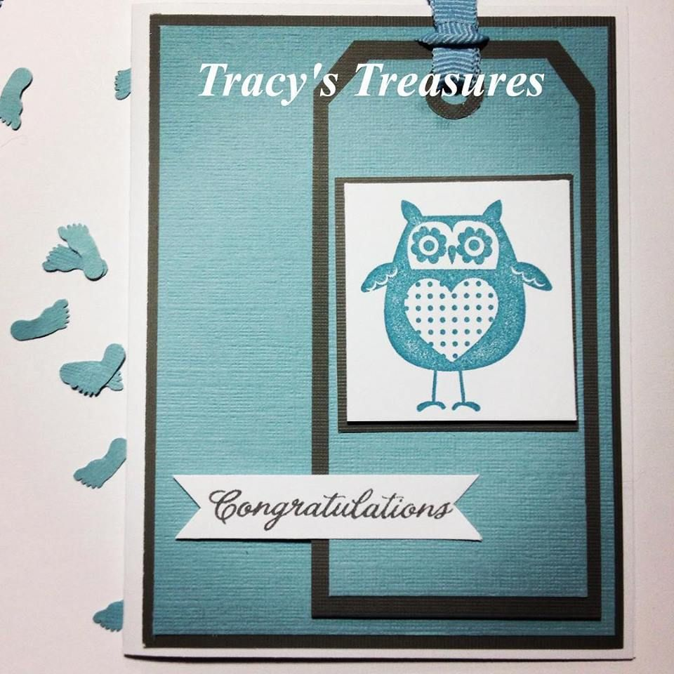 Tracys Treasures: Kaitlyn's Baby Boy card