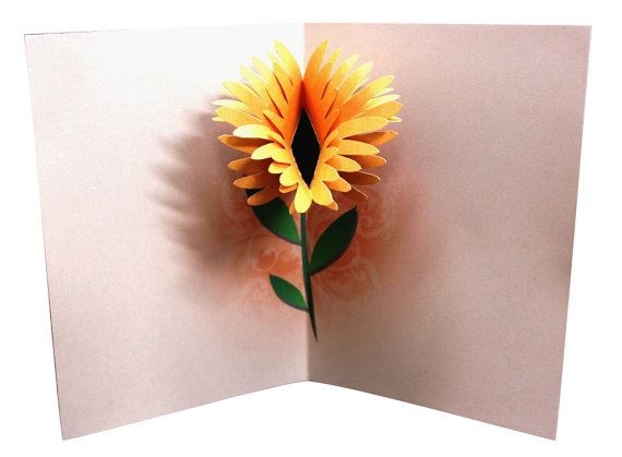 This Flower Birthday Pop Up Card Has A Beautiful Flower That Pops