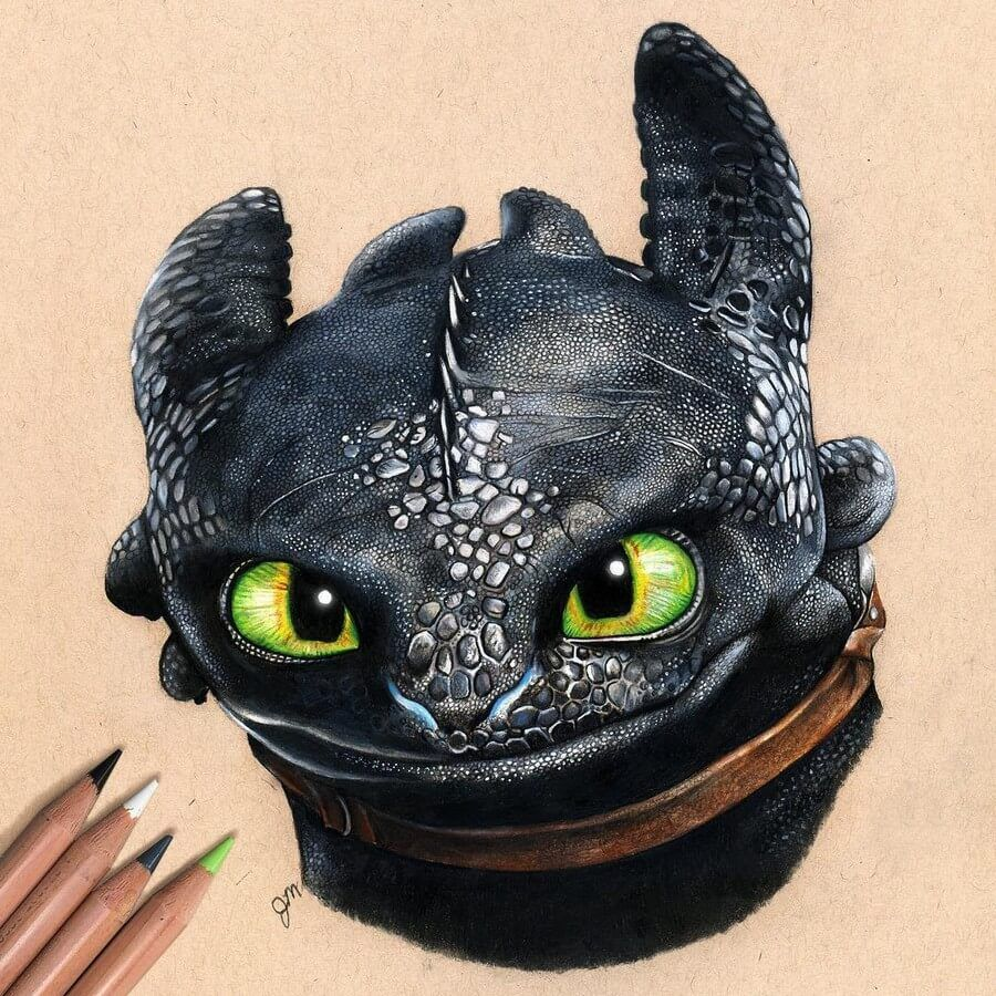 Photo of Dragon Drawing.