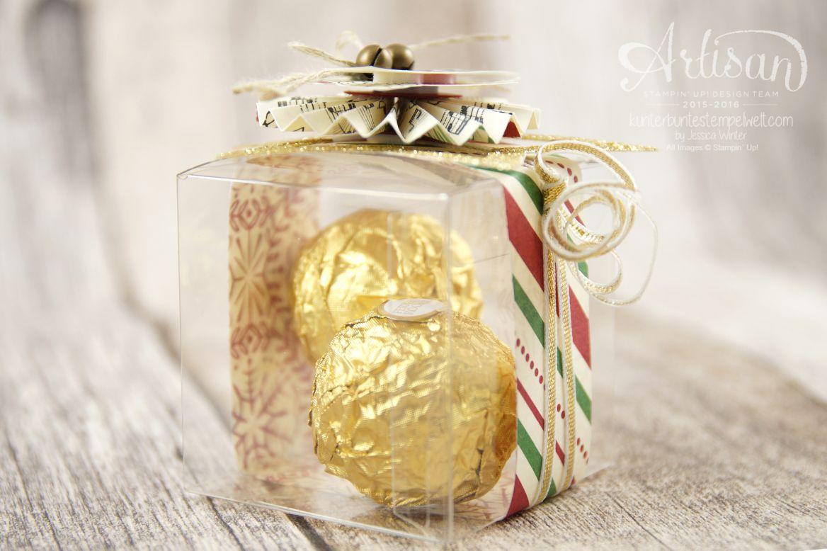 """Satmpin´ Up! - Artisan Blog Hop - Weihnachtsmarkt - Besonderes Designerpapier """"Für Weihnachten"""" - transparente Mini-Geschenkschachteln - 3"""