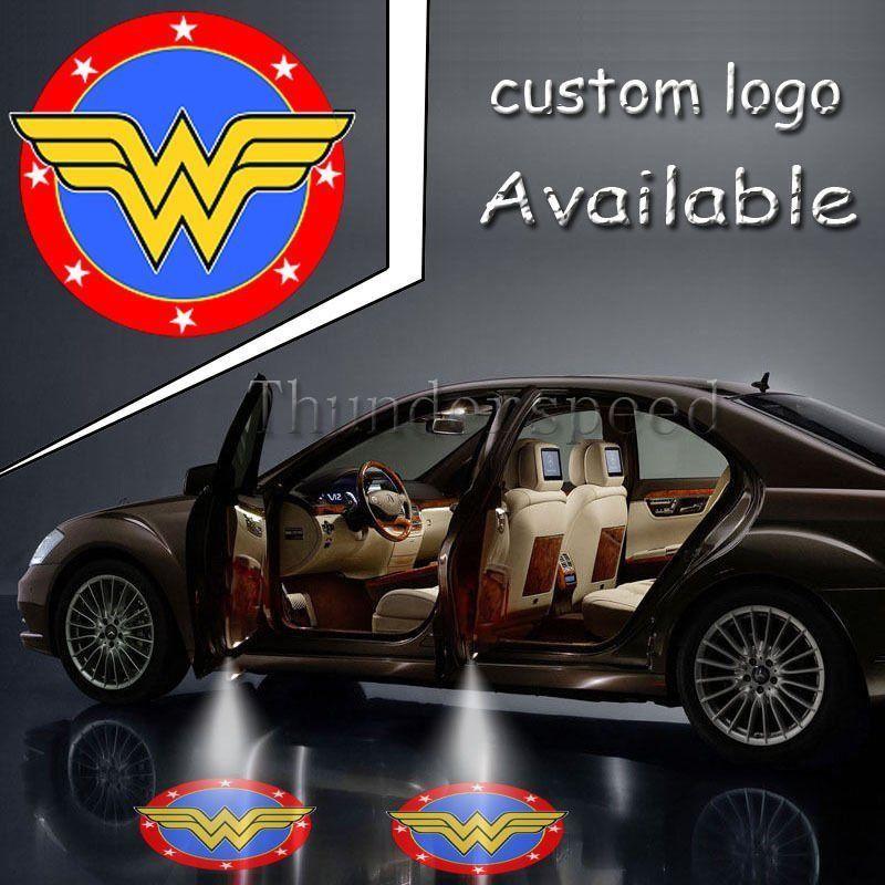 Pair Justice League Wonder Woman Logo Light Car Truck Door Led