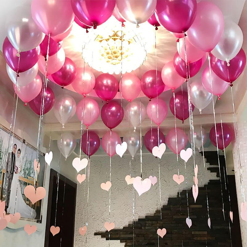 50 Lovely Diy Valentine S Day Decorations You Need To Try Out Simple Birthday Decorations Birthday Decorations At Home Birthday Room Decorations