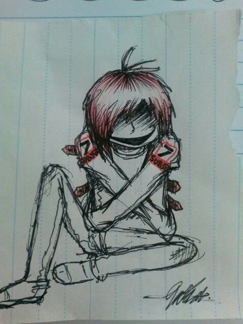 New pic i drew red pen and fineliner