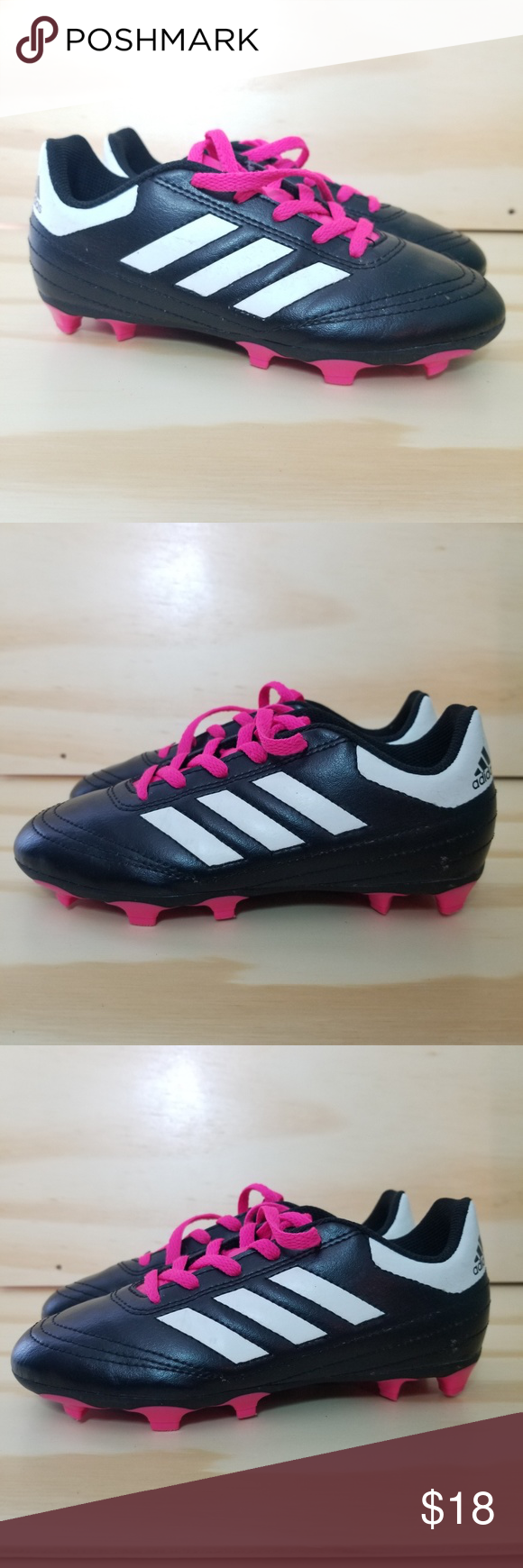 Adidas Soccer Cleats Shoes Sz 1 Adidas Soccer Cleats Shoes Girls Size 1 Youth Pink Black Laces Excellent Cond Cleats Shoes Soccer Cleats Adidas Soccer Cleats