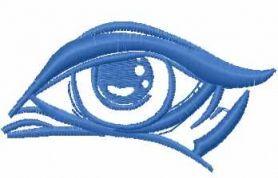 Eye free machine embroidery design. Machine embroidery design. www.embroideres.com