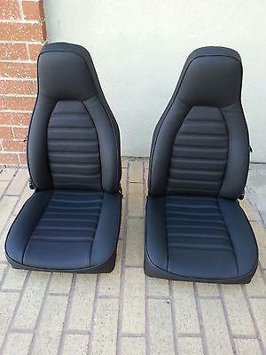 Porsche 911 912 76 84 Seat Kit New Upholstery Black Kit German Vinyl Beautiful Bilar