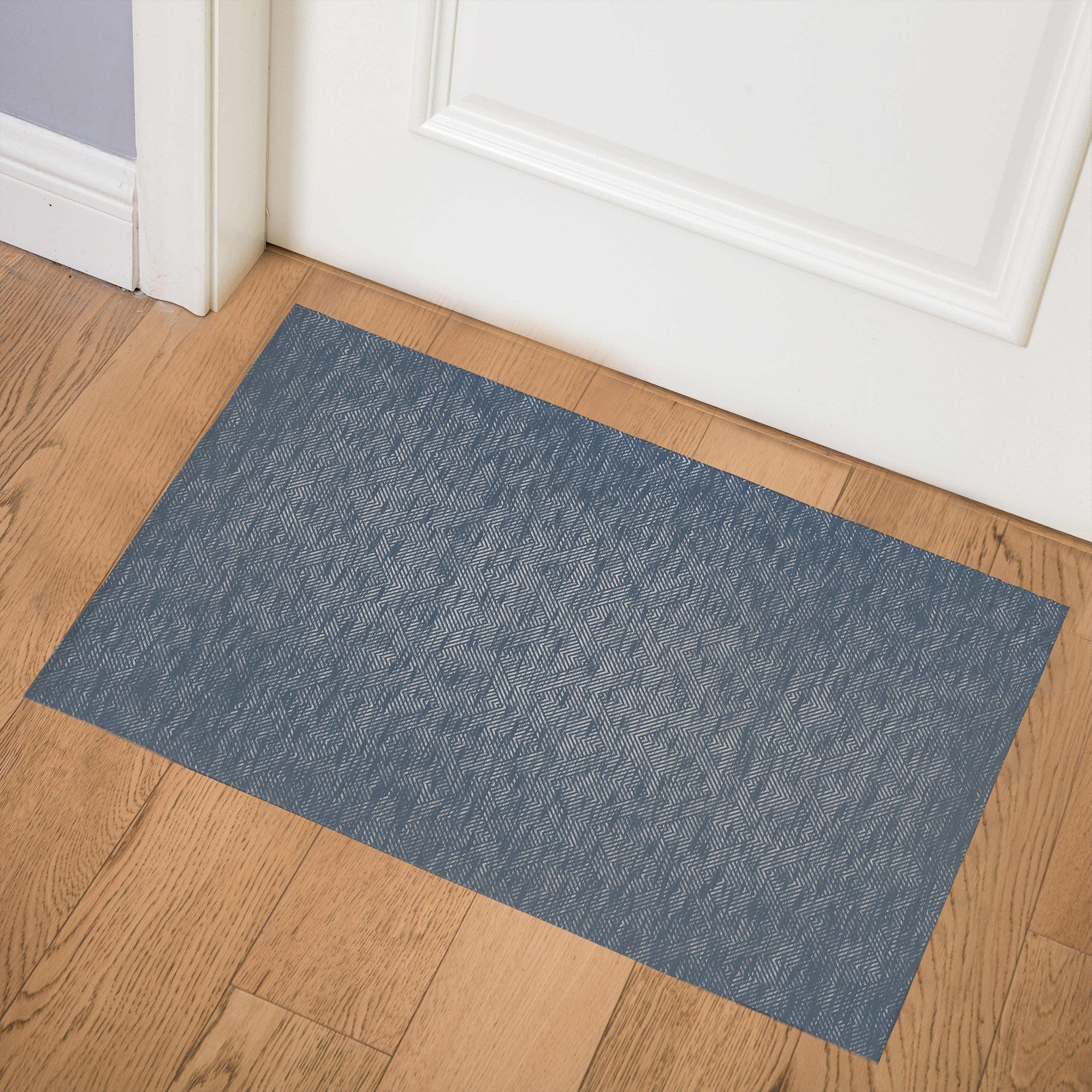 Photo of ZELDA BLUE Indoor Floor Mat By Kavka Designs – 3ft x 5ft
