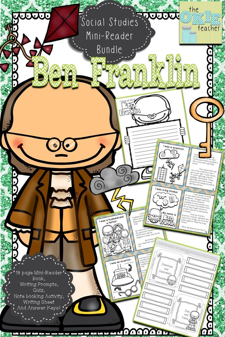 Ben Franklin Informational Text Mini Reader Book Quiz Notebooking And More Elementary History Activities Mini Readers Social Studies Elementary [ 1103 x 736 Pixel ]