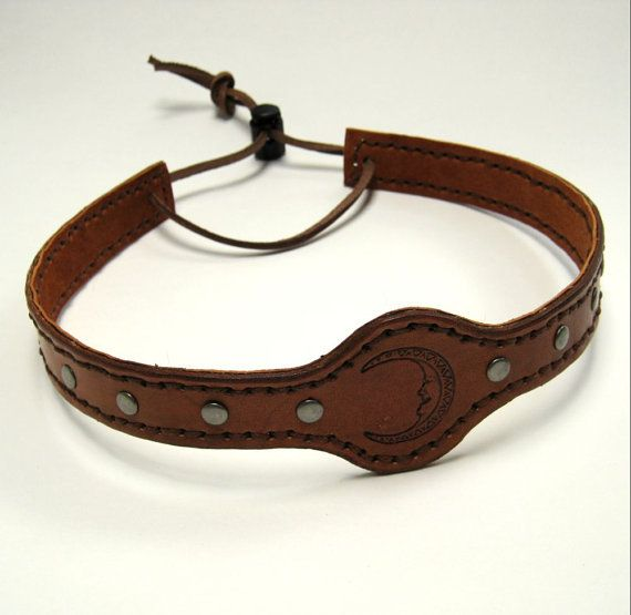 Leather Headband SCA Fantasy Headband by BirchCreekLeather on Etsy