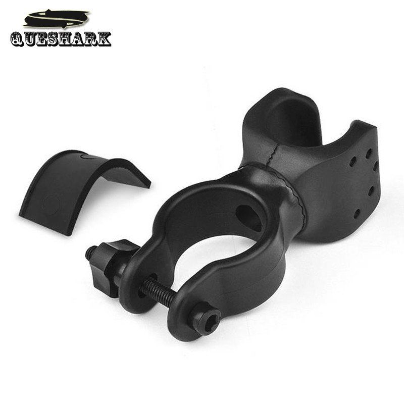 New Universal Bike Handle Bar Holder Mounting For Flashlight Torch Black PM  cb