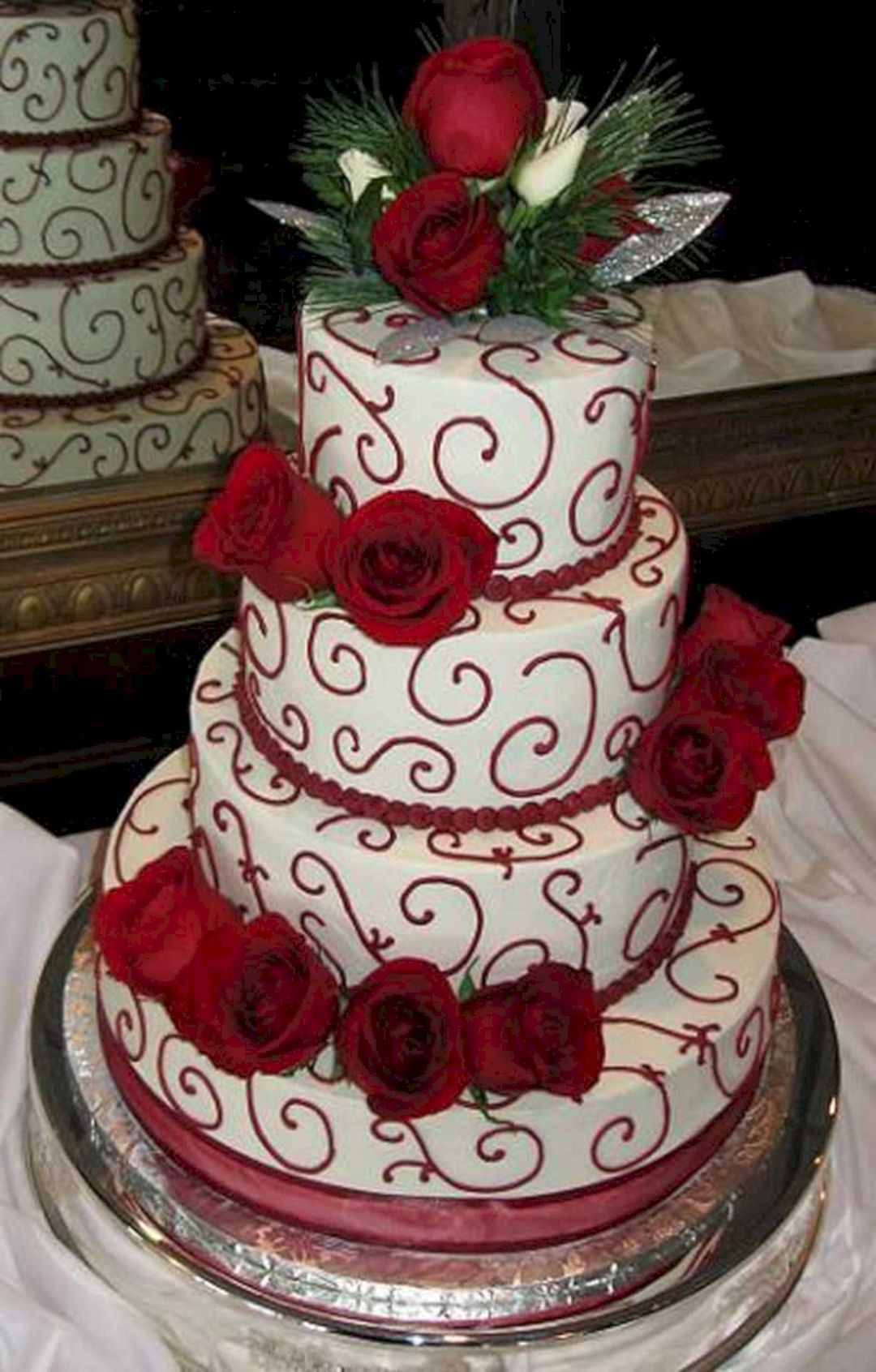 best christmas wedding cakes decorations christmas wedding