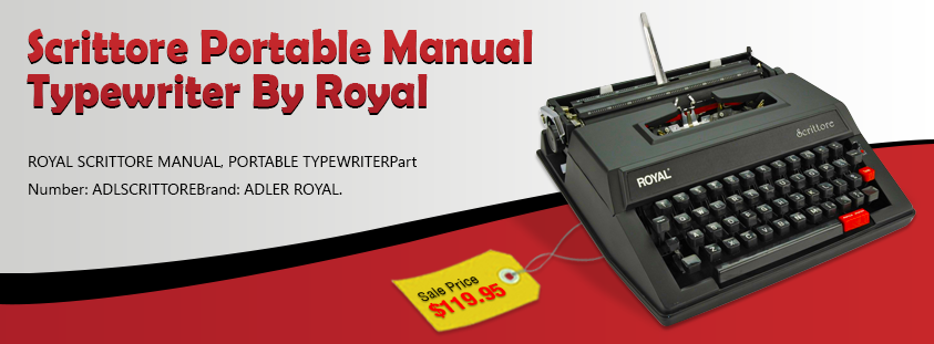 Scrittore Portable Manual Typewriter By Royal Perfect Writing Machine Snap Our Bestseller At Affordable Price Of 119 95 Typewriter Portable Manual