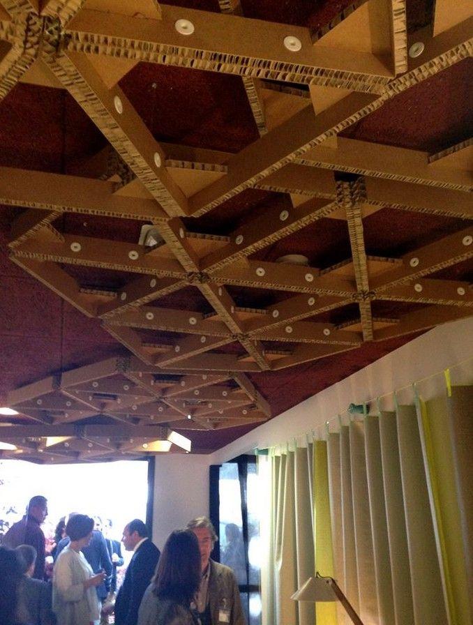 Cardboard Ceiling Design Interior Decoration Pop Up Stores