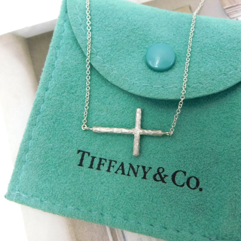 087f10651 Tiffany Paloma Picasso Hammered Sideways Cross Necklace in 2019 ...