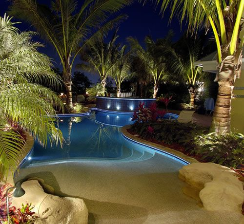 landscape lighting pool