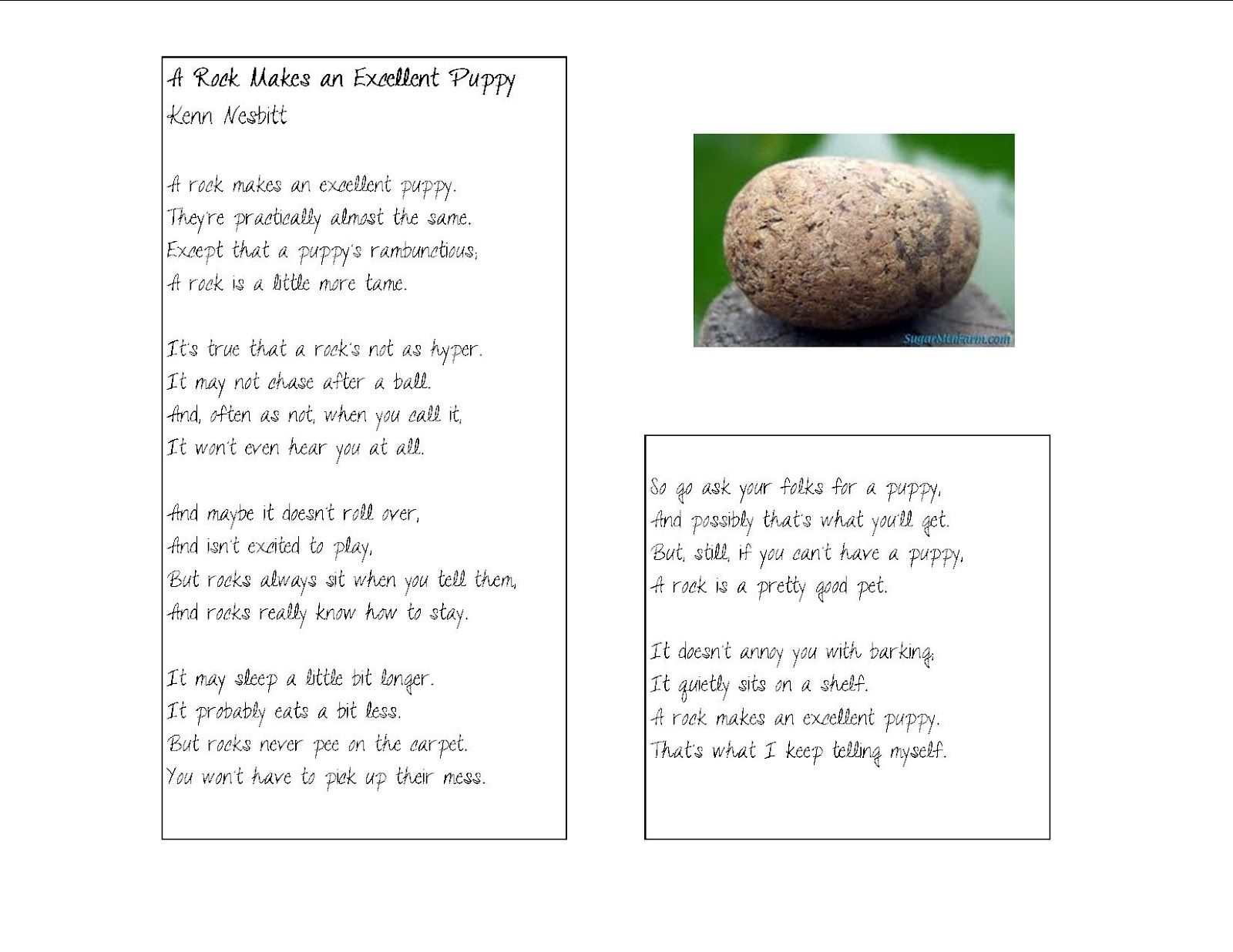 Poems On Rocks And Minerals