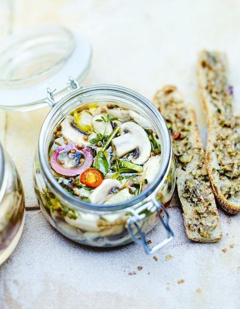 Pickles de champignons de Paris   Recette (avec images ...