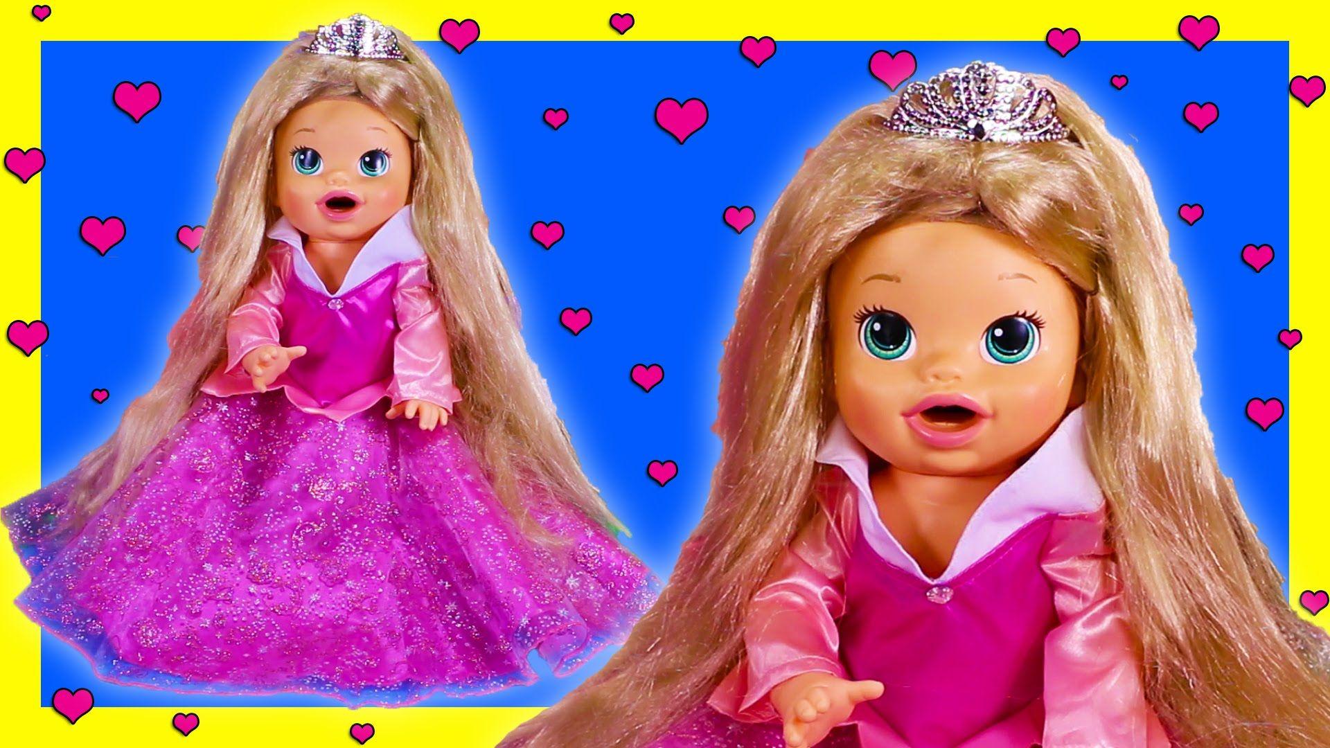 Sleeping Beauty Aurora Custom Baby Alive Doll Eats Play Doh Poops Blind Bags Baby Alive Baby Alive Dolls Custom Baby