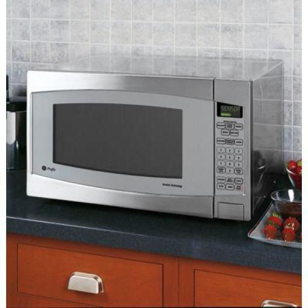Ge Profile 2 2 Cu Ft Countertop Microwave In Stainless Steel With Defrost And Sensor Controls Jes2251sj Countertop Microwave Countertop Microwave Oven Stainless
