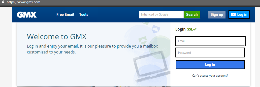 Gmx Login 1 Open Gmx 2 Click Login 3 Enter Email And Password