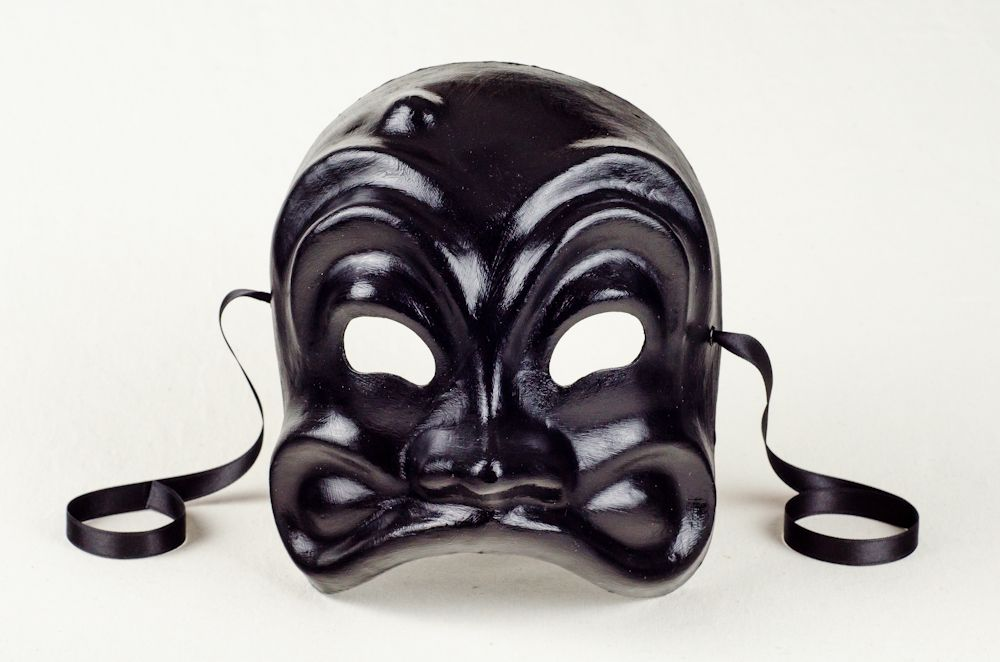 Arlecchino black commedia dellarte old things skull