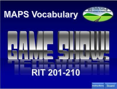 NWEA MAPs Vocabulary Rit 201-210 Jeopardy Game from MyPATHS on - sample jeopardy powerpoint