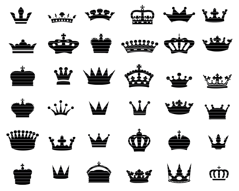 Crown Svg Bundle Queen Crown Svg King Crown Crown Vector Etsy Crown Clip Art Queen Crown Tattoo Simple Crown Tattoo