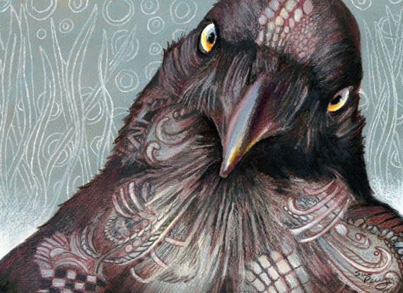 Download Pin by debra leonard on Zentangle   Black bird, Crows ravens, Color pencil drawing