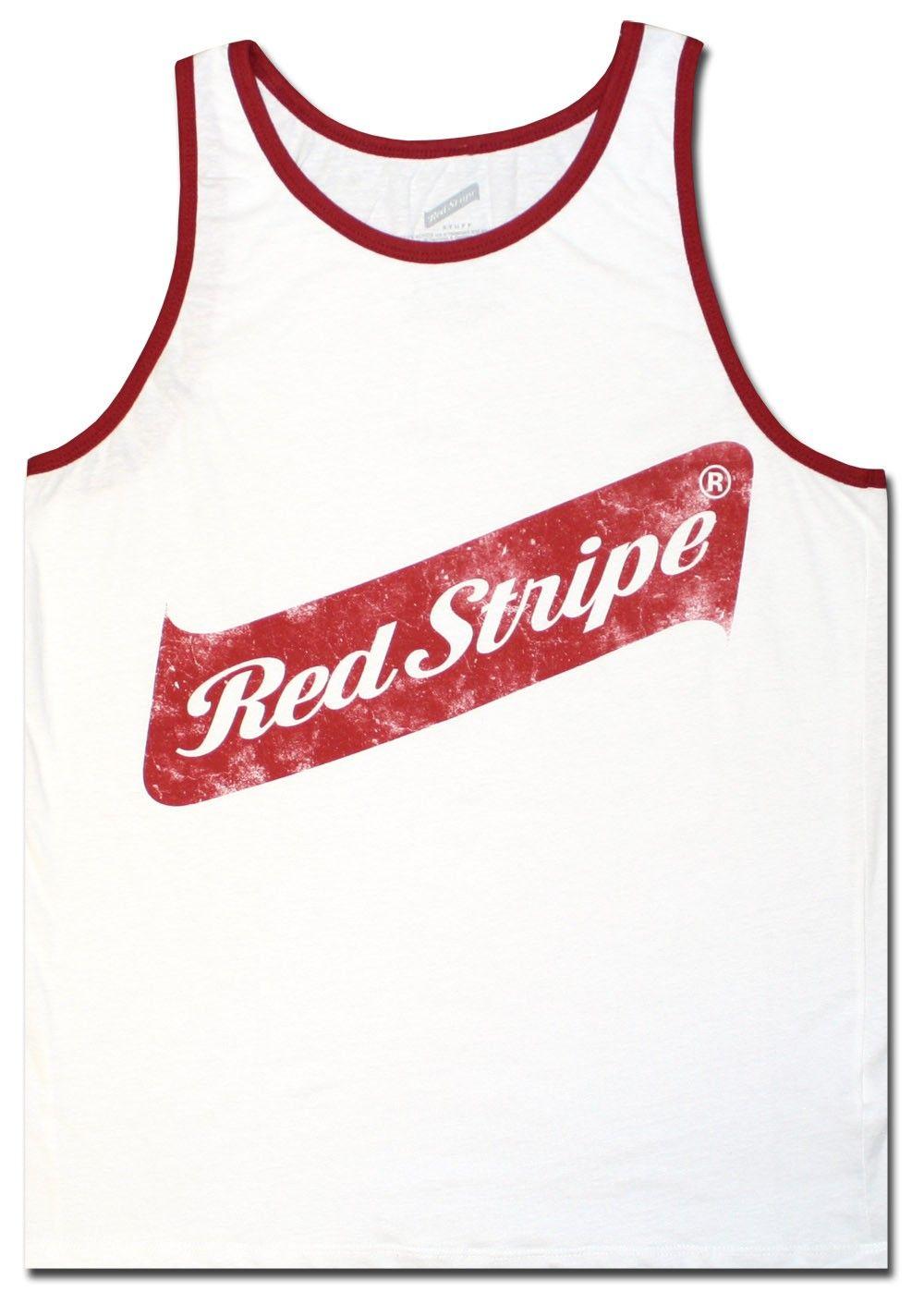Red Stripe Men S Tank Top White Beer Shirt Officially Licensed Red Stripe Shirt Mens Tank Tops Beer Shirts Red Stripe