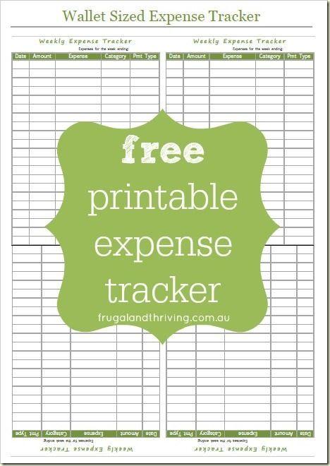 Free Printable Expense Tracker - Take Control of Your Spending - printable expense sheet