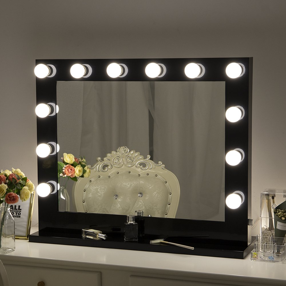 Amazon Com Chende Hollywood Lighted Makeup Vanity Mirror Light Makeup Dressing Table Vanity Set Mi In 2020 Makeup Mirror With Lights Makeup Mirror Mirror With Lights