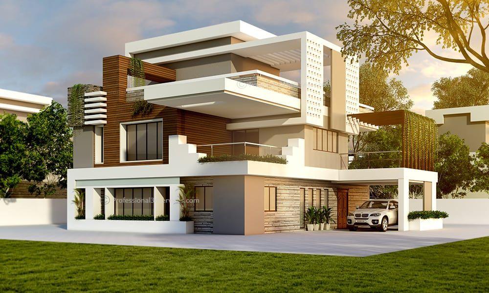 Maison Cube Plain Pied Moderne