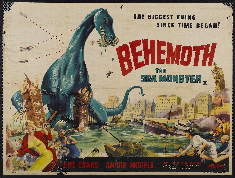 Behemoth | Giant monster movies, Movie monsters, Movie posters vintage