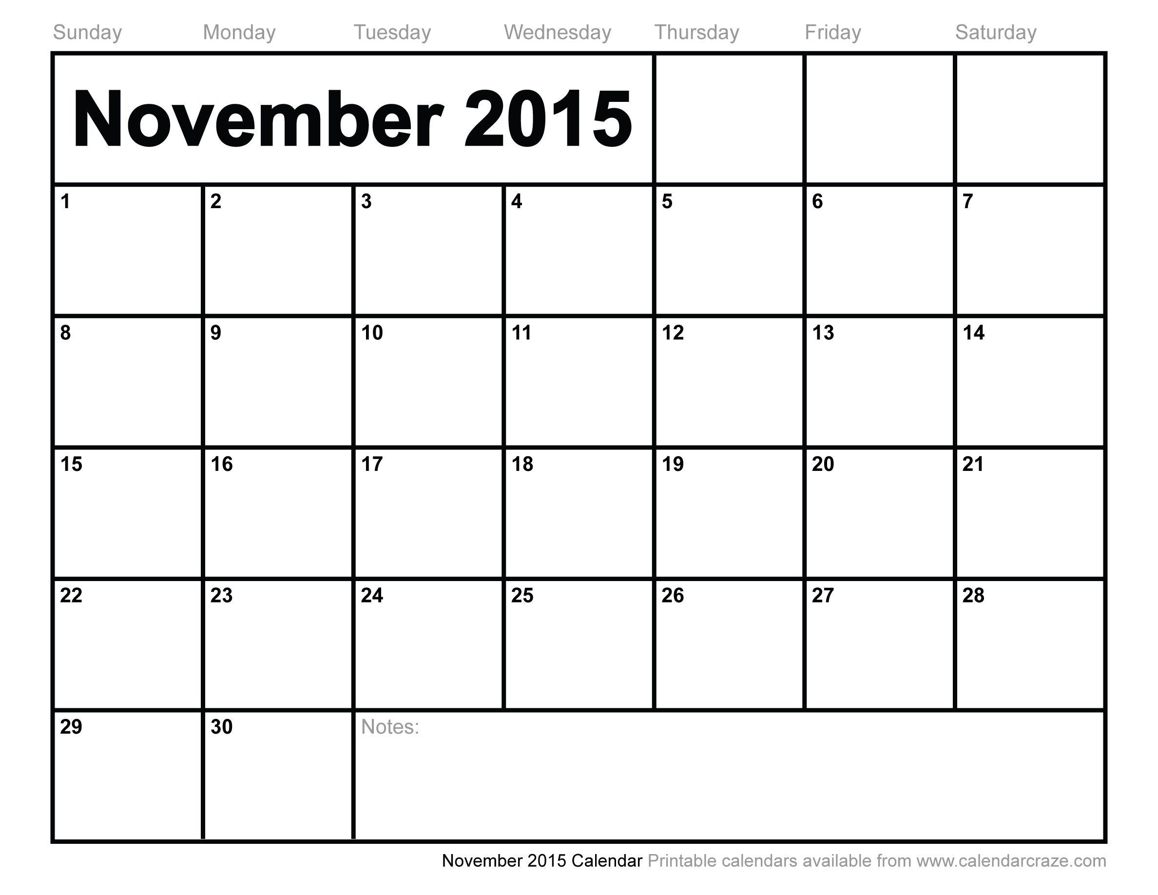 November 2015 Calendar Printable December 2015 Calendar Printable Downloads August Calendar June Calendar Printable Monthly Calendar Template