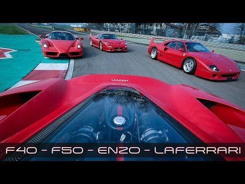 ferrari laferrari vs f40 vs f50 vs enzo   sound accelerations