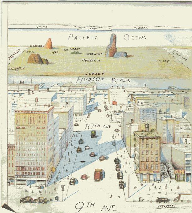 Saul Steinberg Th Avenue New York Saul Steinberg Pinterest - New yorker map of the us
