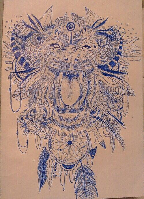 Carnet de croquis - tigre au stylo - par Jehanne D'eimar de Jabrun