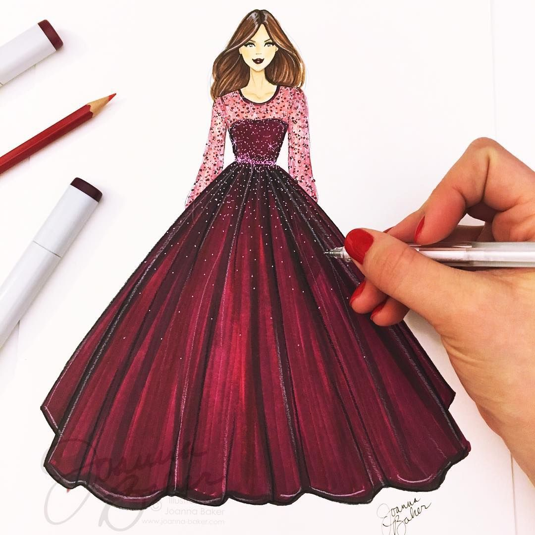 Featured image of post Dress Drawing Easy With Color Begin by draw a v shape to form the neck of the dress
