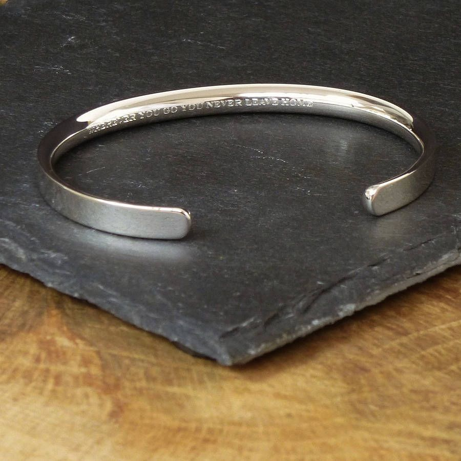 c65ed290a5f5e silver personalised men s bracelet by hersey silversmiths ...