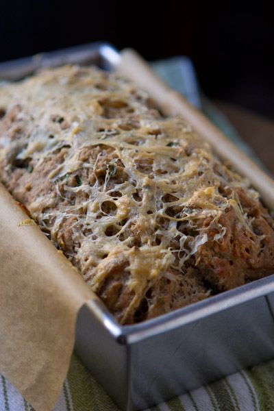 Cheddar & chive Guinness bread. I don't think I'll ever say no to a recipe that calls for Irish butter to be poured over the batter before baking. Divine.
