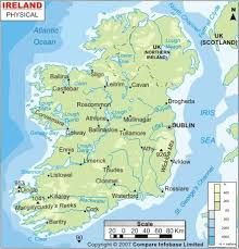 Map Of Ireland With Rivers.Image Result For Irish Rivers Map Writerly Things Map Ireland