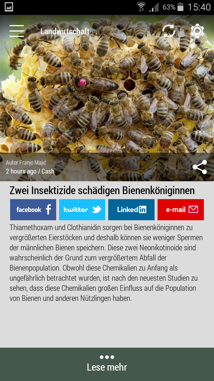 #Born2Invest: die besten Geschäfts- und Finanznachrichten aus den vertrauenswürdigen Quellen. Jetzt unsere kostenlose Android App herunterladen. #biene #insektizide #neonicotinoids #chemikalien