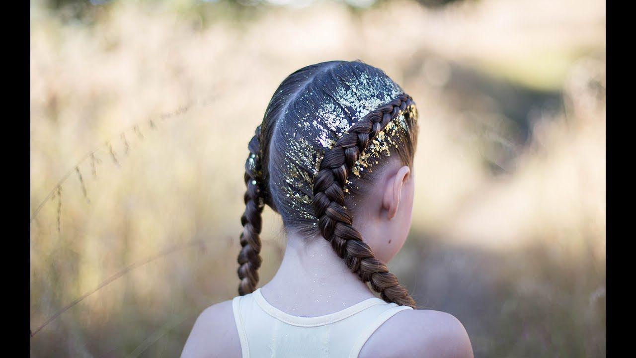 Dutch glitter braids cute girls hairstyles youtube hairstyles