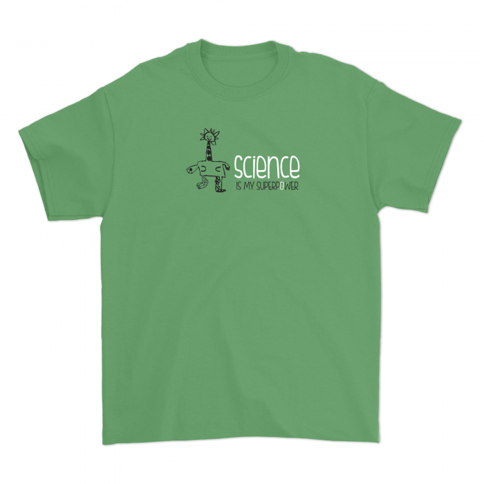Kid's Science Is My Superpower Comic Tee
