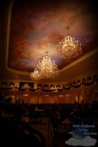 The Ballroom Dining Hall at the new Fantasy Land in the Magic Kingdom is awesome. One day I will eat there. I hear they're booked 192 days out.