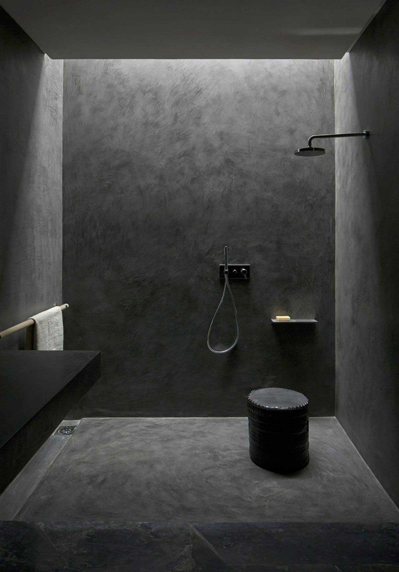 Beton im Bad  Badezimmerideen, Badgestaltung und Badezimmer